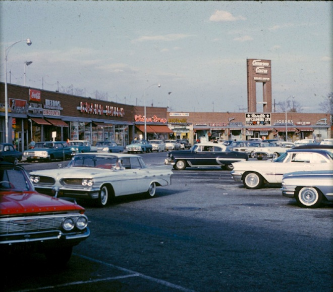 1960s Shopping Center Storefronts Vintage Postcard B